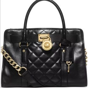 Michael Kors Hamilton Quilt EW Satchel Bag